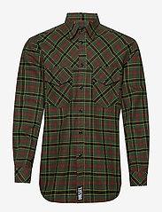 Diesel Men - S-TOLSTOJ SHIRT - checkered shirts - dark green - 0