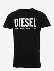 Diesel Men - T-DIEGO-LOGO T-SHIRT - short-sleeved t-shirts - black - 0