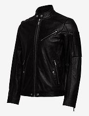 Diesel Men - L-CASE-KA - lederjacken - black black black - 3