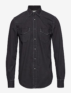 D-EAST-P  SHIRT - BLACK/DENIM