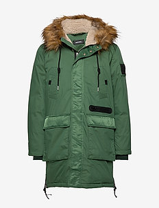 W-BULLISK OVERCOAT - DARK GREEN