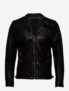 L-CASE-KA - leather jackets - black black black