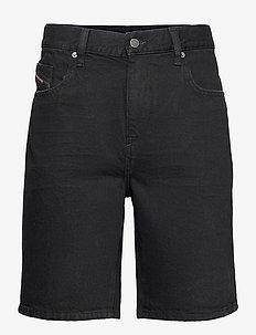 D-STRUKT-SHORT SHORTS - denim shorts - black/denim
