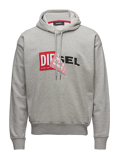 S-Alby Sweat-Shirt Hoodie Pullover Grau DIESEL MEN
