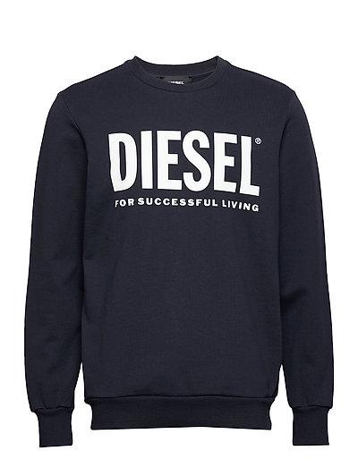 S-Gir-Division-Logo Sweat-Shirt Sweat-shirt Pullover Blau DIESEL MEN