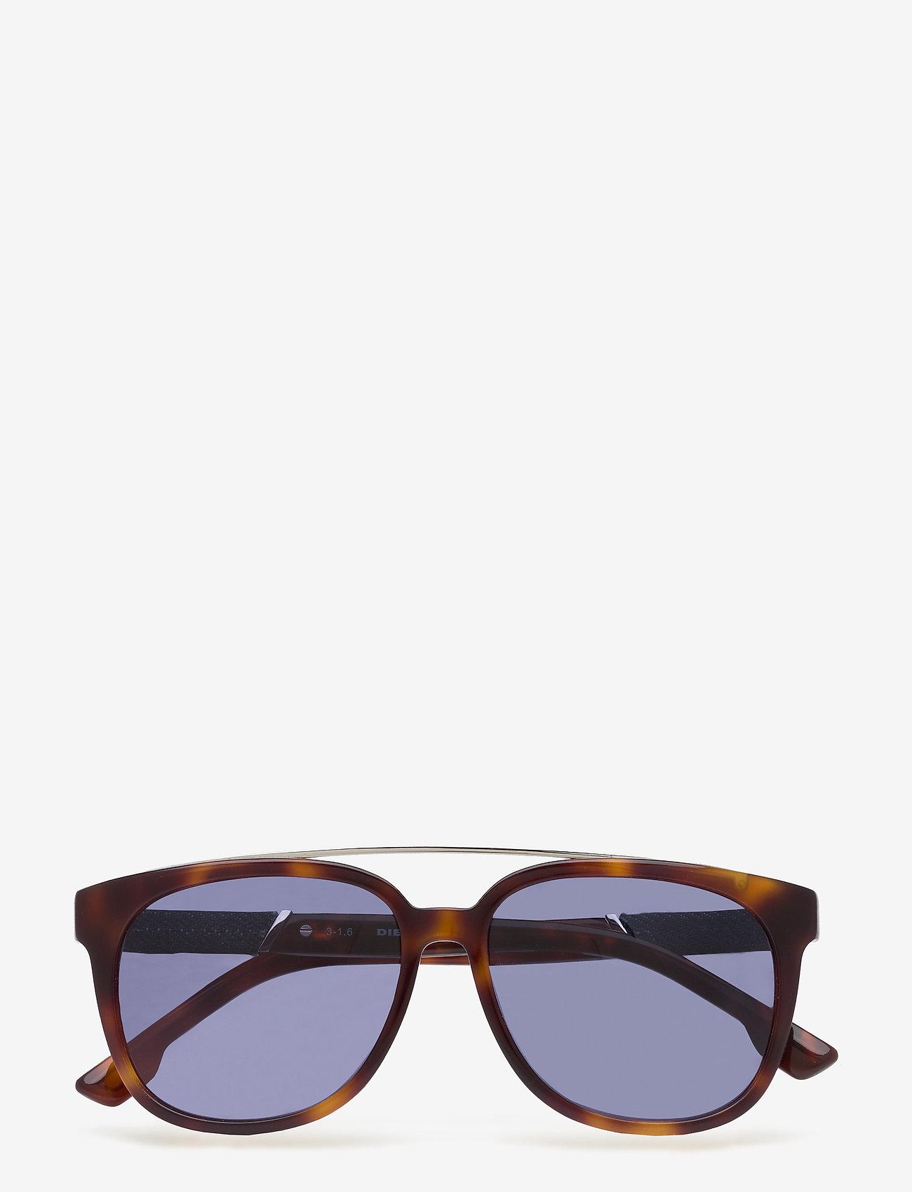 Diesel - DL0169 - okulary przeciwsłoneczne w kształcie litery d - 92l - blue/other / roviex mirror - 0