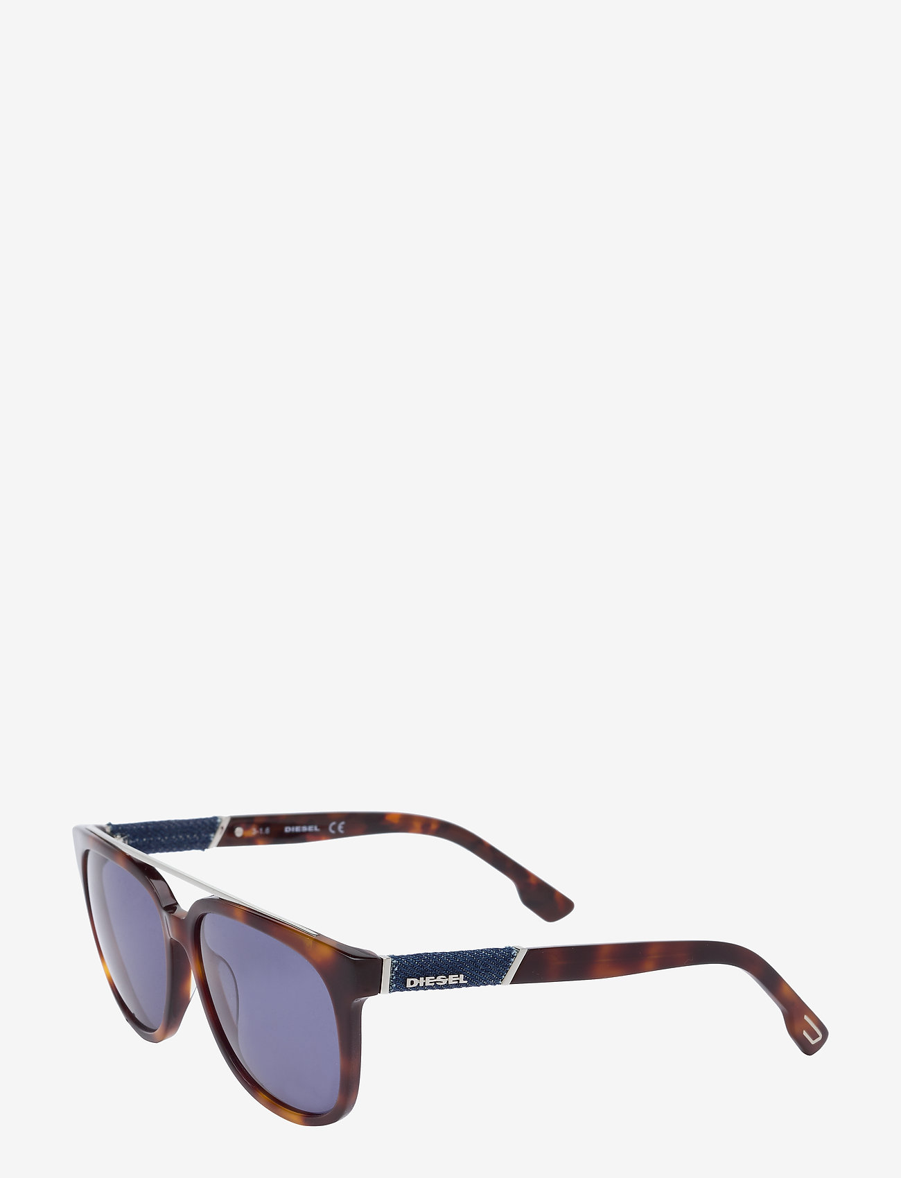 Diesel - DL0169 - okulary przeciwsłoneczne w kształcie litery d - 92l - blue/other / roviex mirror - 1