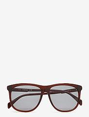 Diesel - DL0155 - okulary przeciwsłoneczne w kształcie litery d - 48n - shiny dark brown / green - 4