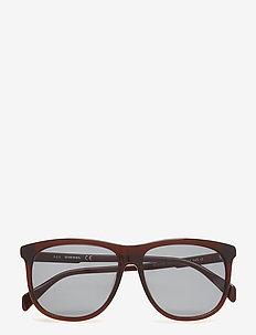 DL0155 - d-shaped - 48n - shiny dark brown / green