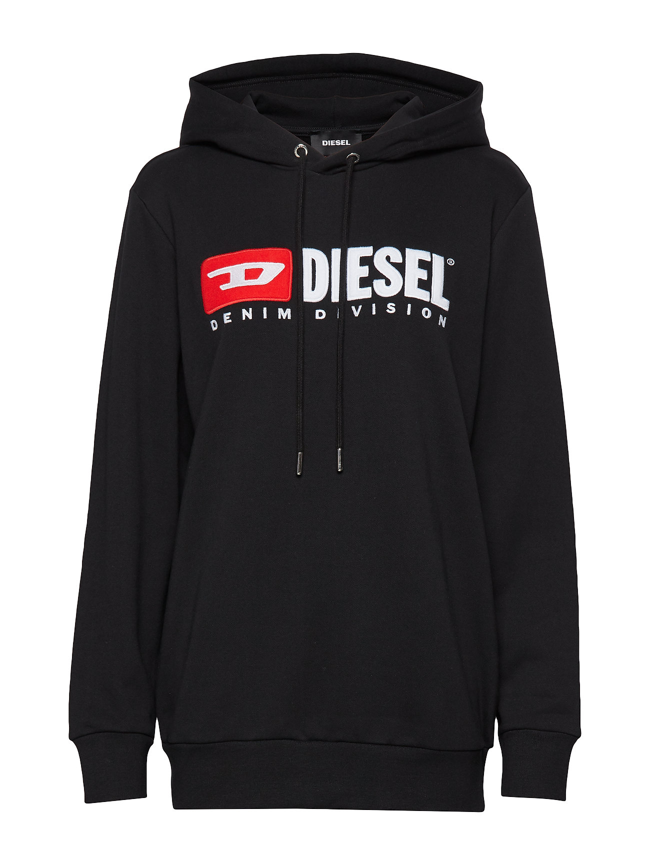 DIESEL F-Gir-Hood-Division-Fl Sweat-Shirt Hoodie Pullover Schwarz DIESEL WOMEN