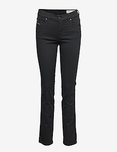 SANDY 0665W - boot cut jeans - black/denim