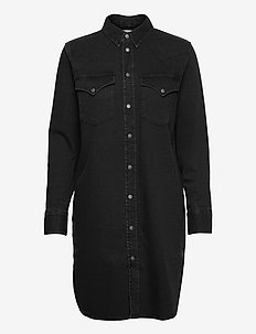 DE-BLANCHE  DRESS - denim dresses - black/denim