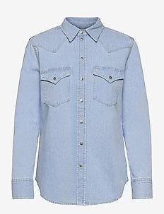 DE-RINGY  SHIRT - long-sleeved shirts - denim