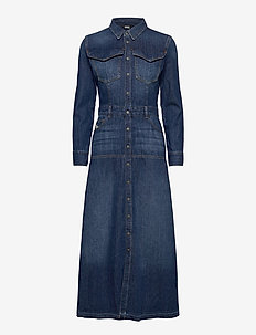 DE-JOANNY - shirt dresses - blue denim