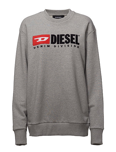 DIESEL F-Crew-Division-Fl Sweat-Shirt Sweat-shirt Pullover Grau DIESEL WOMEN