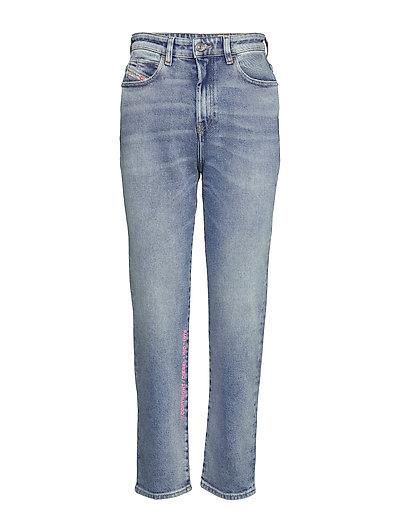 D-Eiselle L.32 Trousers Straight Jeans Hose Mit Geradem Bein Blau DIESEL WOMEN