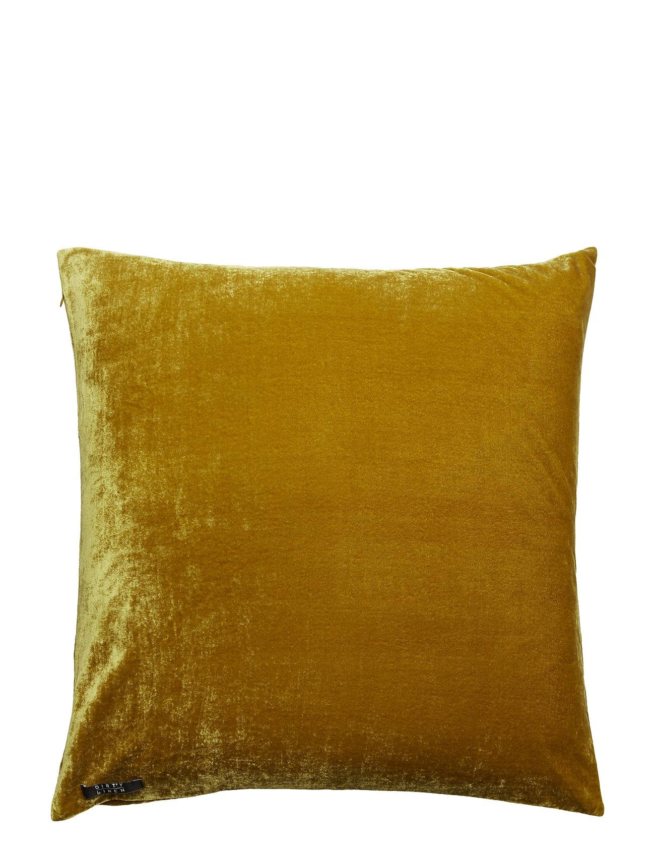 Dirty Linen Plain Decorative Cushion - MUSTY