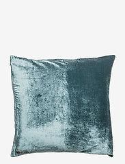 Dirty Linen - Plain Decorative Cushion Cover - kissenbezüge - rich teal - 0