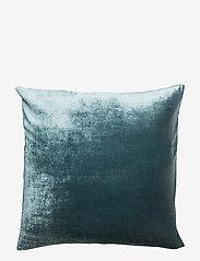 Dirty Linen - Plain Decorative Cushion Cover - kissenbezüge - rich teal - 1