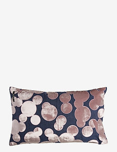 Crafted Decorative Cushion - pynteputer - bubbles blackberry pink