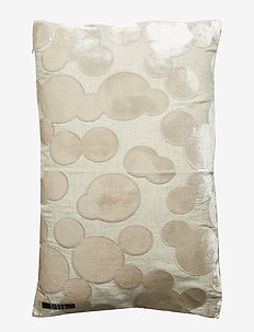 Crafted Decorative Cushion - pynteputer - bubbles moon