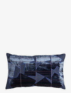 Crafted Decorative Cushion - pynteputer - patchy nocturne