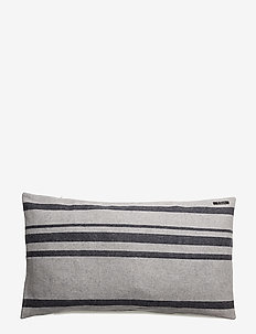 Strip cushion - kuddfodral - off white/navy