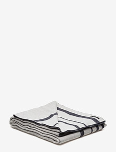 Strip Throw - tæpper - off white/navy