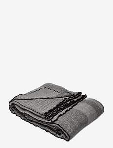 Strip Bedspread - black/grey