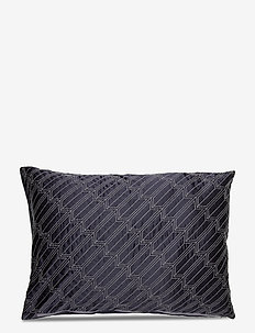 Silk satin Cushion cover - kussenovertrekken - grey/navy