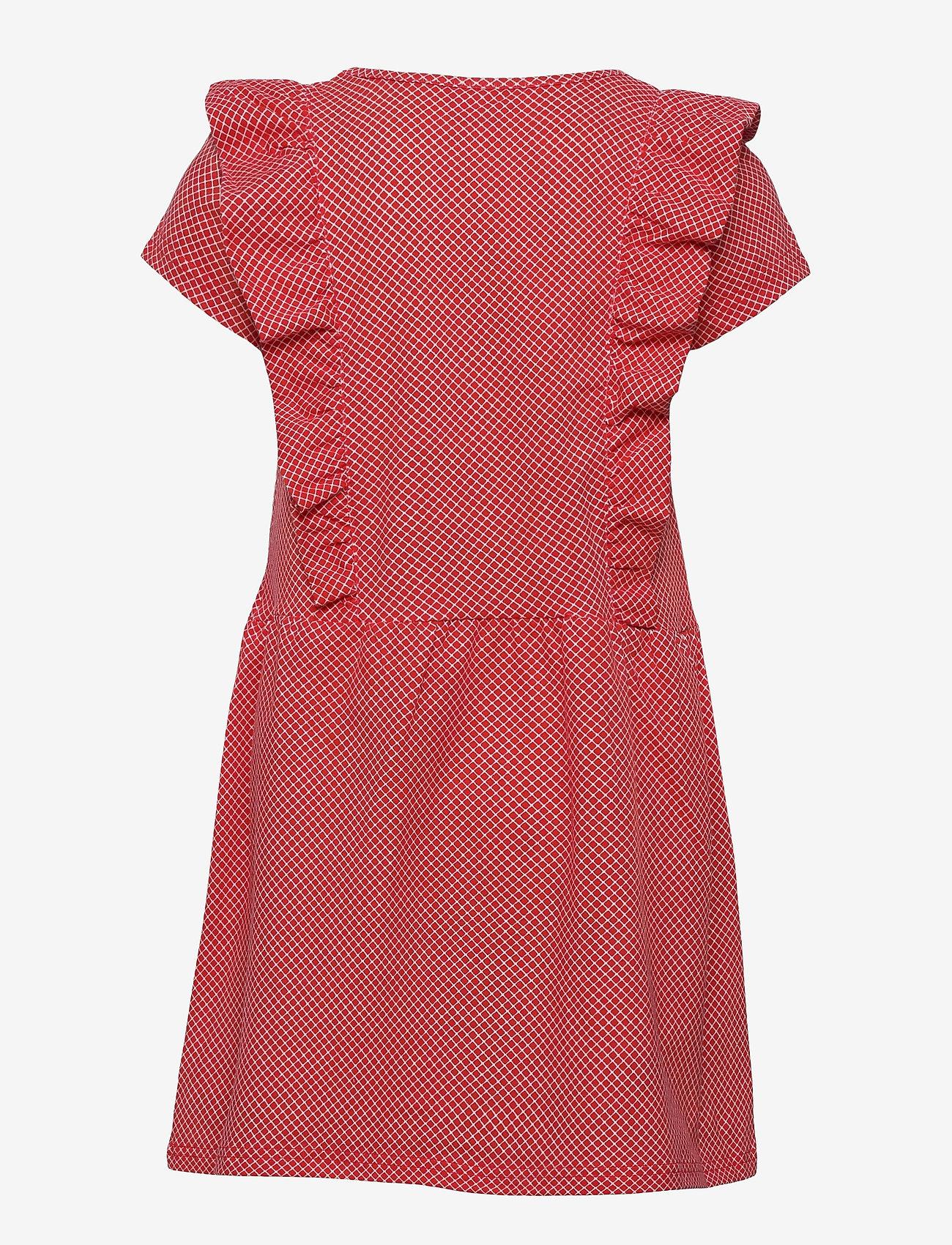 Martinex - IDA COUNTS RUFFLE DRESS - kleider - red - 1