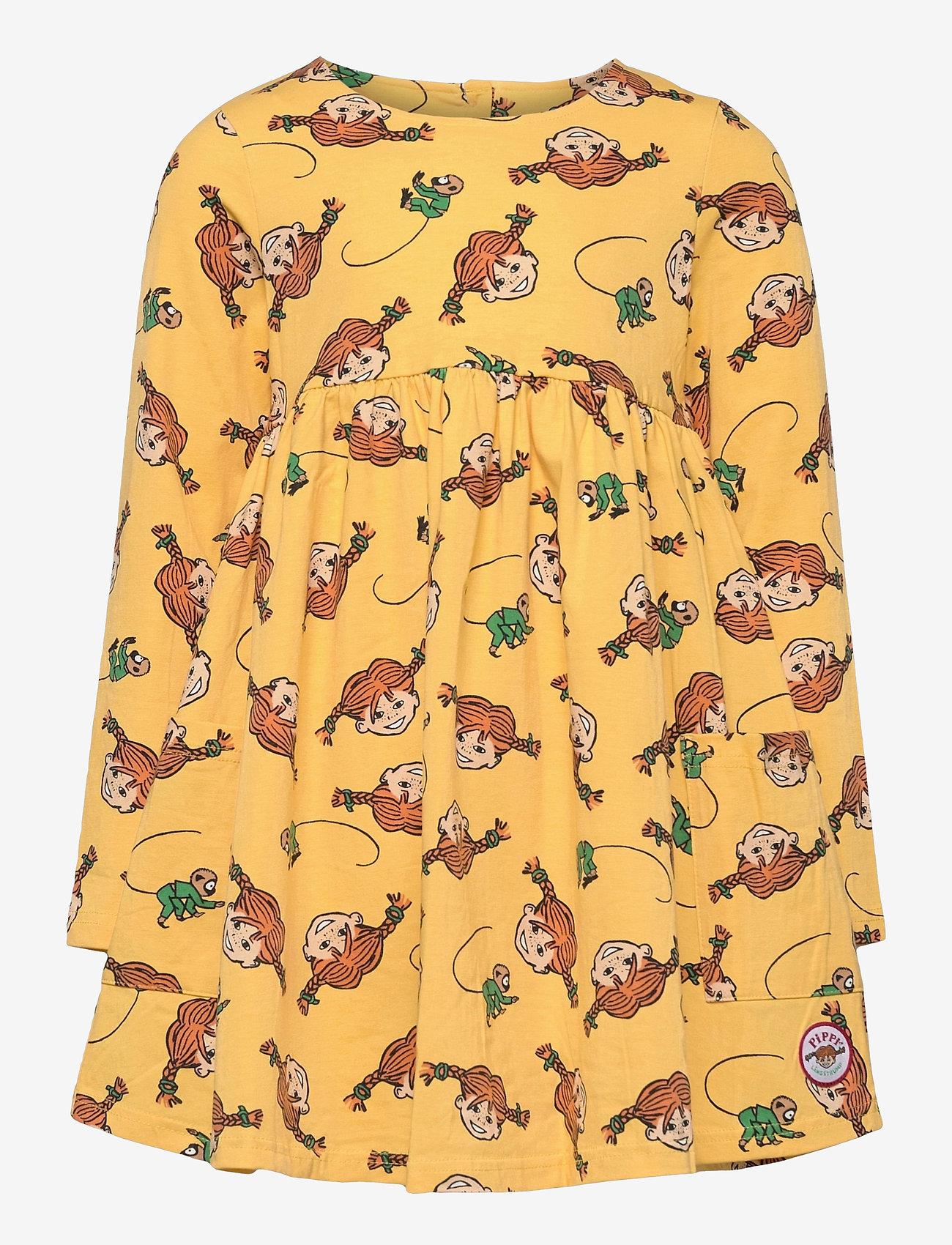 Martinex - PLAITS DRESS - kleider - yellow - 0