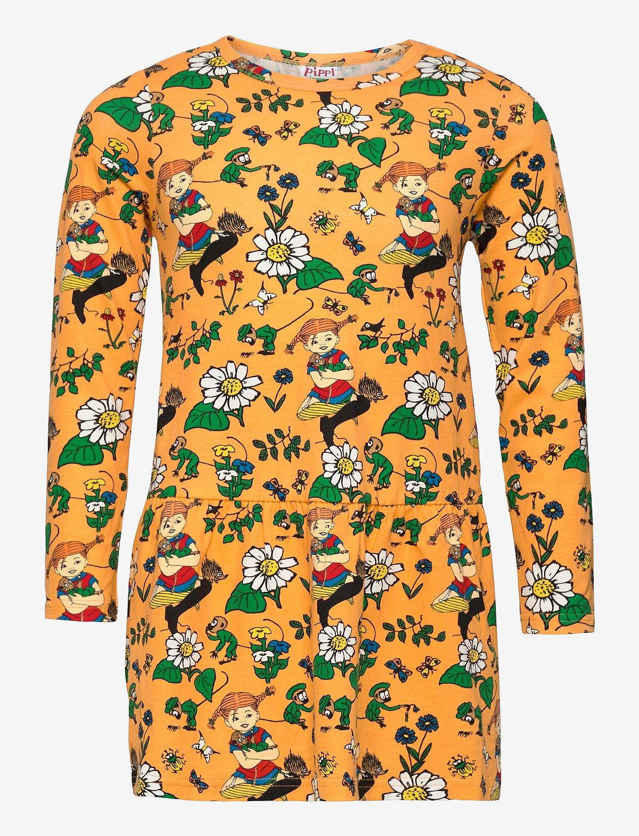 Martinex - OXEYE DAISY DRESS - kleider - orange - 0