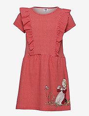 Martinex - IDA COUNTS RUFFLE DRESS - kleider - red - 0