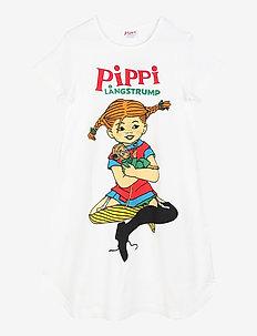 PIPPI HUGS NIGHTGOWN - nat- & undertøj - white