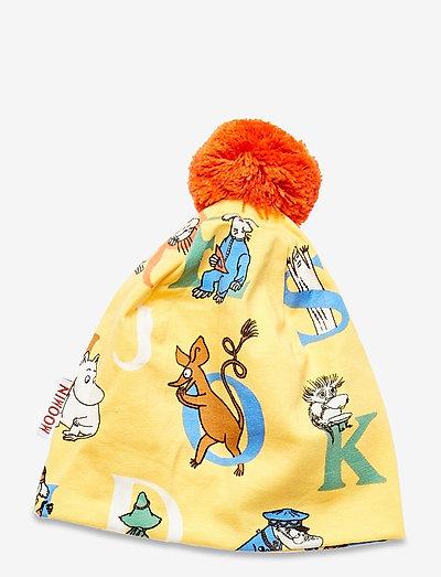 ALPHABET BEANIE - hatte og handsker - yellow
