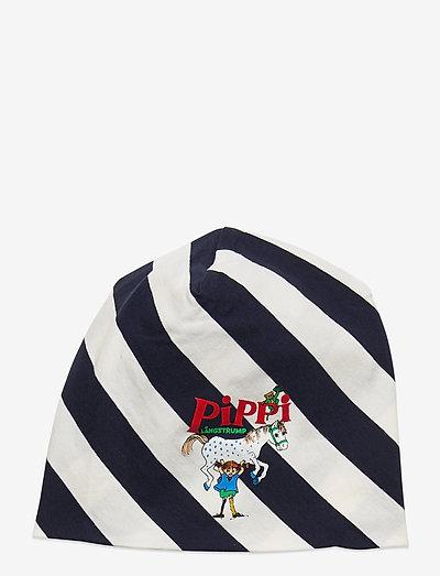 SKEW STRIPES BEANIE - hatte og handsker - blue