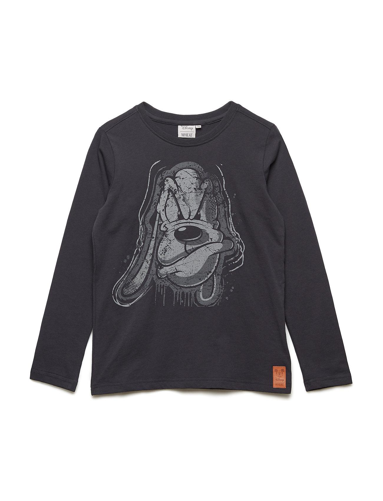 Image of T-Shirt Pluto Langærmet T-shirt Sort DISNEY BY WHEAT (3111745943)