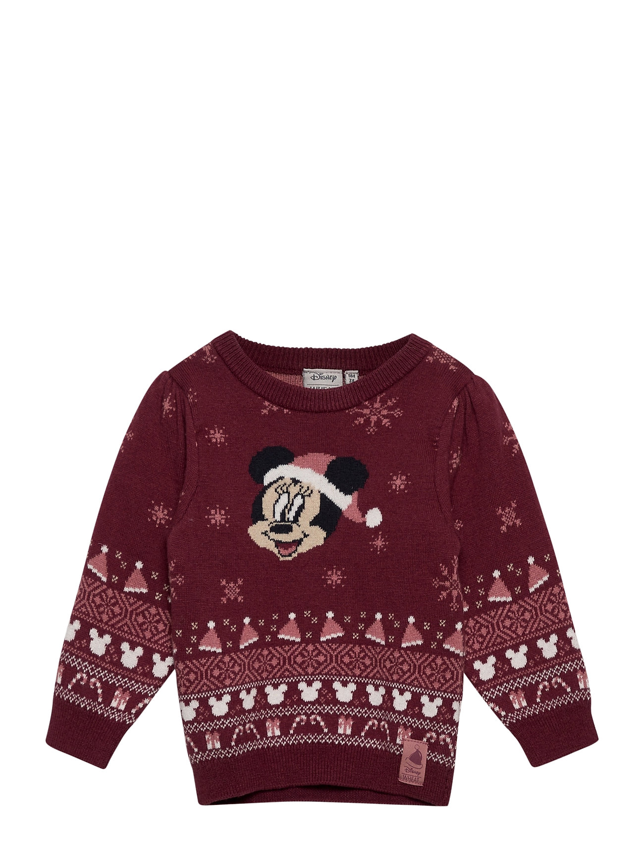 Image of Knit Pullover Minnie Pullover Striktrøje Rød Disney By Wheat (3458386833)