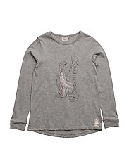 T-Shirt Rapunzel and Tower - MELANGE GREY