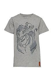 T-Shirt Lion Family - MELANGE GREY