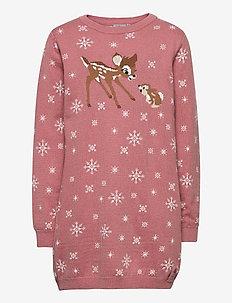 Knit Dress Bambi & Thumper - dresses - soft rouge