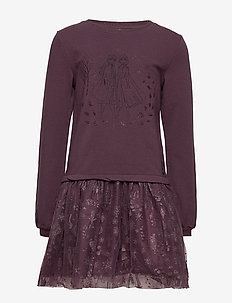 Sweat Dress Frozen Tulle - SOFT EGGPLANT