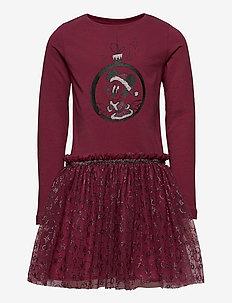 Jersey Dress Minnie X-Mas - robes - mickey burgundy