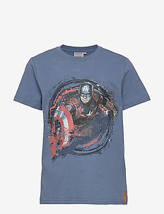 T-Shirt Captain America - short-sleeved - blue horizon