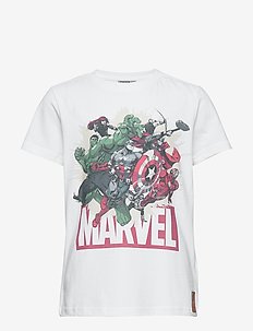 T-Shirt Marvel - logo - white