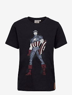 T-Shirt Captain America - kurzärmelige - midnight blue