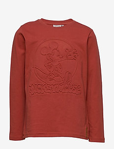 T-Shirt Mickey Embossed - cartoon - paprika