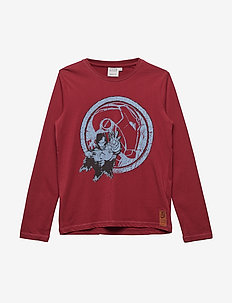 T-Shirt Ironman - cartoon - dark red