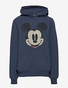 Sweatshirt Hood Mickey Terry - hoodies - indigo
